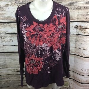 NWT Sonoma size 2x embellished Top